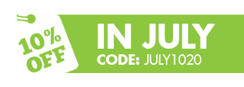 July Promotion, 10% off during July.